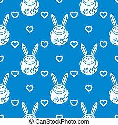 Birthday, Valentine's day, Easter seamless pattern