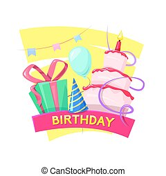 Birthday vector illustration