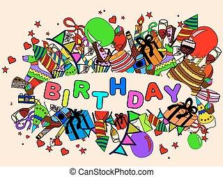 Birthday vector illustration