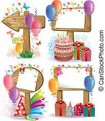 Birthday wooden sign