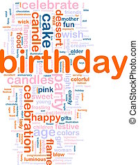 Birthday word cloud