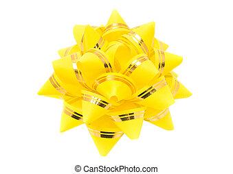 Birthday - yellow holiday ribbon