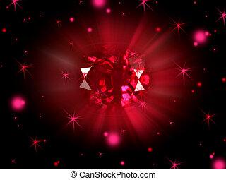 birthstone, rubin