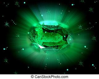 birthstone, smaragdzöld