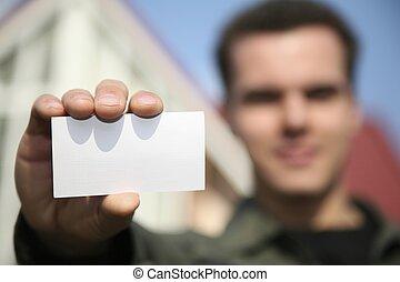 birtok, kártya, ember