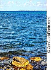 biscayne, parque nacional, bahía