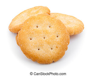 biscoito, isolado, branco, fundo
