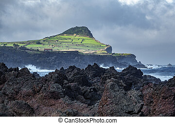 Biscoitos and volcanic rocs in Terceira, azores