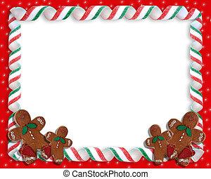 biscoitos, borda, natal