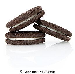 biscoitos, creme