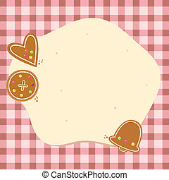 biscoitos, fundo, natal, massa, em branco