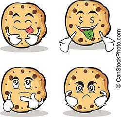 biscoitos, jogo, doce, personagem, cobrança, caricatura