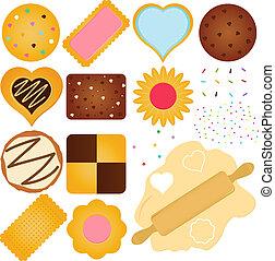 biscoitos, massa, biscoito