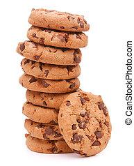 biscoitos, massa, caseiro, chocolate