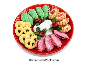 biscoitos, natal, isolado