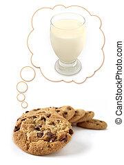 biscoitos, sonho, leite