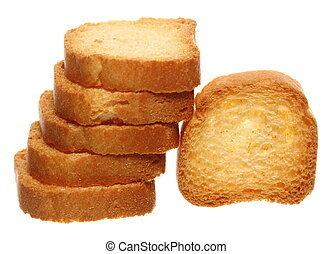 biscottes, pain pain, toast, biscuits, nourriture régime
