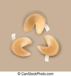 biscotti, cinese, fortuna
