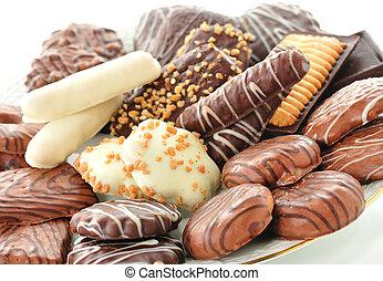 biscotti, cioccolato