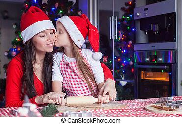 biscotti, cottura, famiglia, pan zenzero, natale, cucina