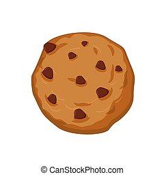biscotti, dolci, isolated., cioccolato, fondo., avena, biscotto, bianco, gocce