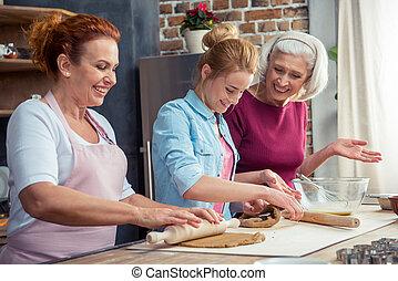 biscotti pan zenzero, preparare, famiglia