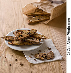 Biscotti - traditional Italian chocolate biscotti