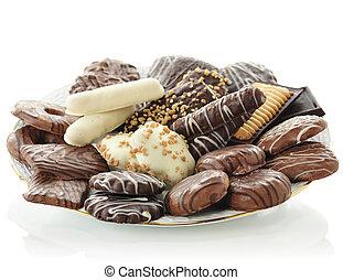 biscotti, vario, cioccolato