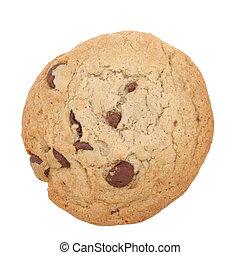 biscotto, ritaglio, scheggia, percorso, cioccolato, isolato
