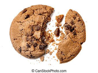 biscotto, scheggia, panetteria, briciole, cioccolato, ...