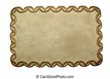 biscuit, à, espace vide, pour, ton, conception, isolé,...