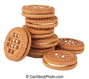 biscuit, biscuits, pile