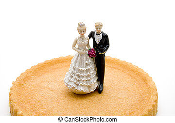Biscuit Cake with Bridal Pair
