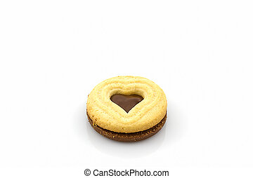 Biscuit Cookie heart shaped.