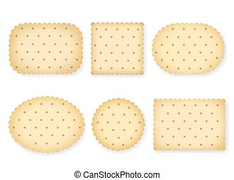 Biscuit crackers isolated on white