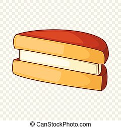 Biscuit icon, cartoon style
