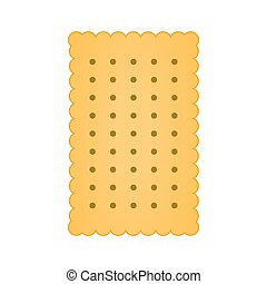 Biscuit icon vector isolated on white