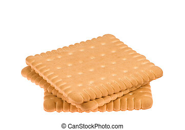 Biscuit is isolated on white background