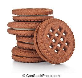 biscuit, koekjes, stapel