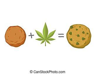 biscuit., narcótico, biscoito, recipe., rasta, alimento., sweets., deleite, rastafarians, reggie, jamaicano, marijuana