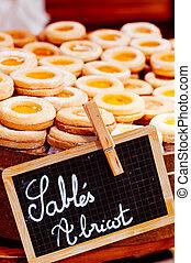 biscuit of sable pastry - Spiced jam-filled sablés (Butter...