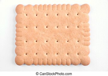 Biscuit on white background