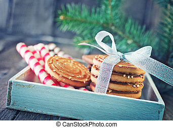 biscuit, plakken, koekjes