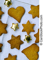 Biscuit stars cookies - Biscuit stars and hearts cookies