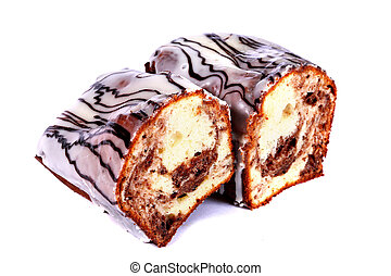 Biscuit with chocolate topping