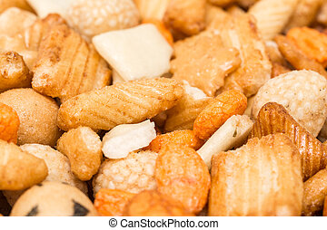 Biscuits And Glazed Peanuts - Japanese Mix With Biscuits And...