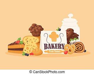 biscuits, bread., sélection, fait maison, menu,...