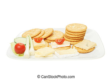 Biscuits cheese and salad