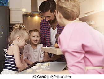 biscuits, cuisson, famille