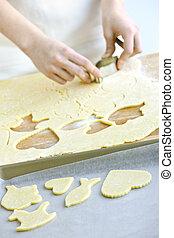 biscuits, découpage, pâte
